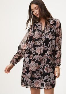 Petite Royal Floral Shirtdress