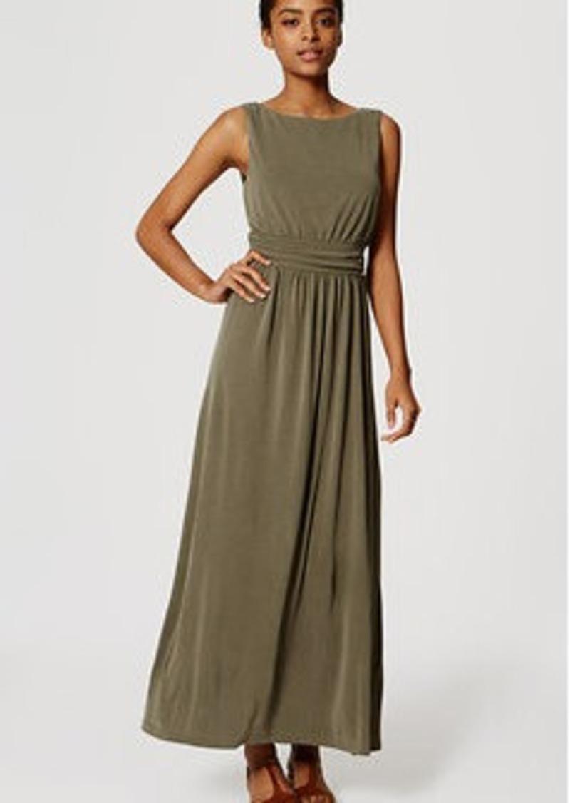 LOFT Petite Ruched Maxi Dress