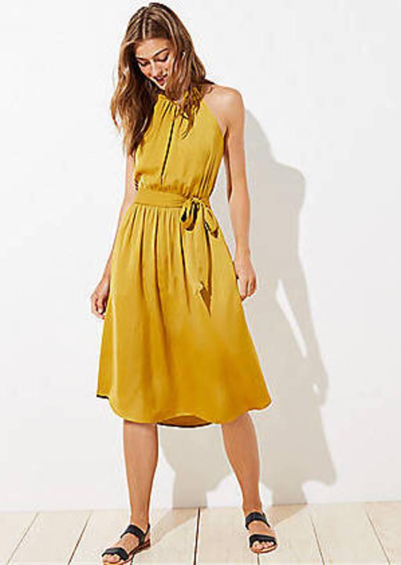 LOFT Petite Ruffle Halter Dress