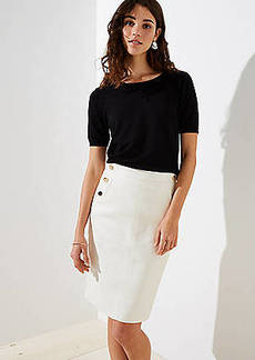 LOFT Petite Sailor Pocket Pencil Skirt