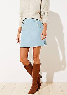 LOFT Petite Sailor Pocket Shift Skirt