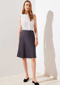 LOFT Petite Satin Midi Skirt
