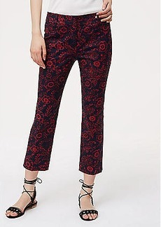 LOFT Petite Scarlet Floral Riviera Pants in Julie Fit