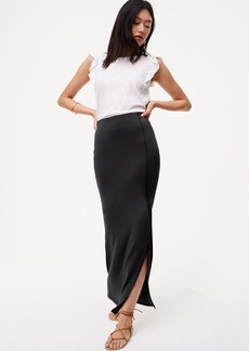 Petite Seamed Maxi Skirt