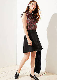 LOFT Petite Seamed Ponte Flippy Skirt