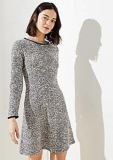 LOFT Petite Shimmer Boucle Flare Dress
