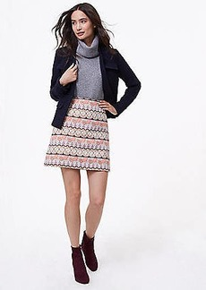 LOFT Petite Shimmer Mosaic Shift Skirt