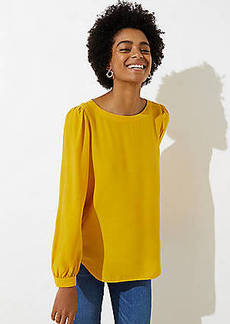 LOFT Petite Shirttail Blouse