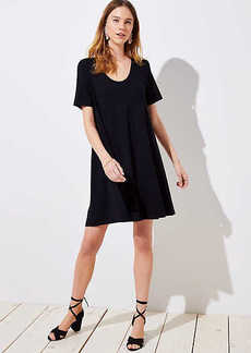 LOFT Petite Short Sleeve Swing Dress