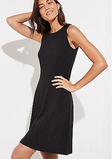 LOFT Petite Shoulder Button Flare Dress
