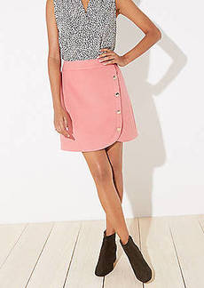 LOFT Petite Side Button Shift Skirt