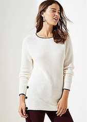 LOFT Petite Side Button Tunic Sweater