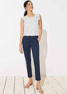 LOFT Petite Skinny Back Slit Ankle Pants in Marisa Fit