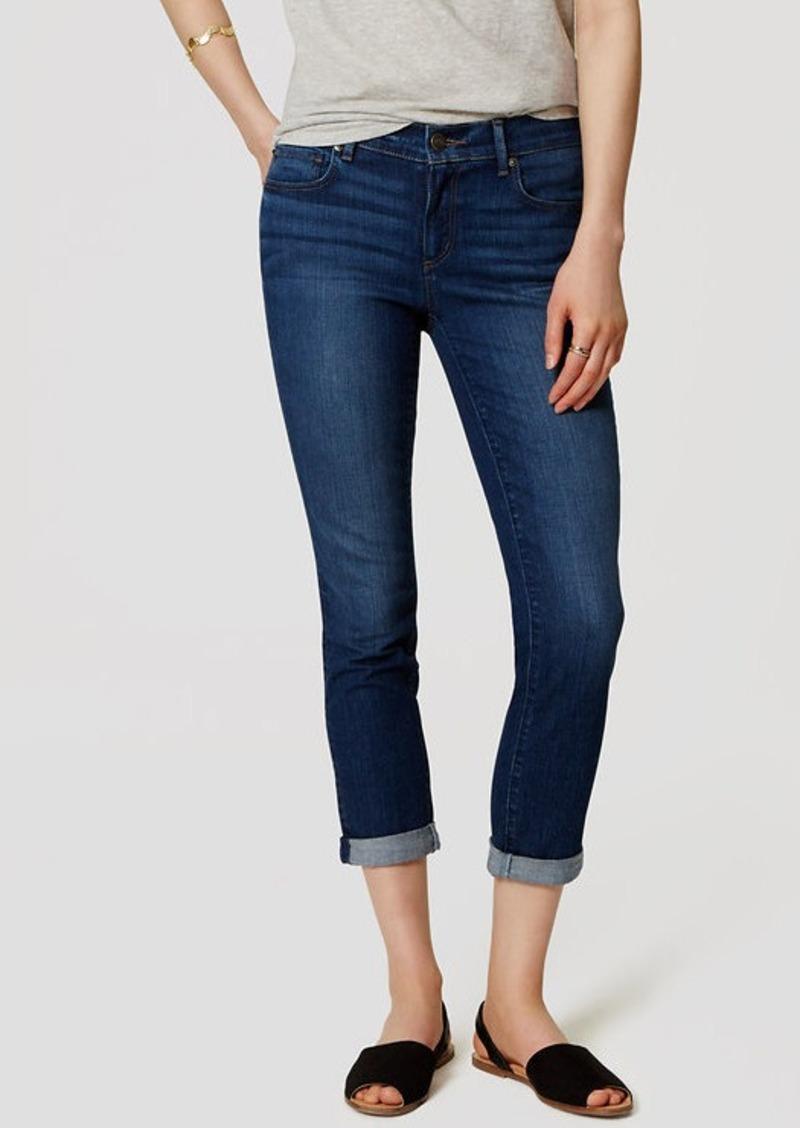 LOFT Petite Skinny Crop Jeans in Vivid Dark Indigo