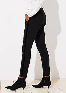 LOFT Petite Skinny Velvet Stripe Ankle Pants in Julie Fit