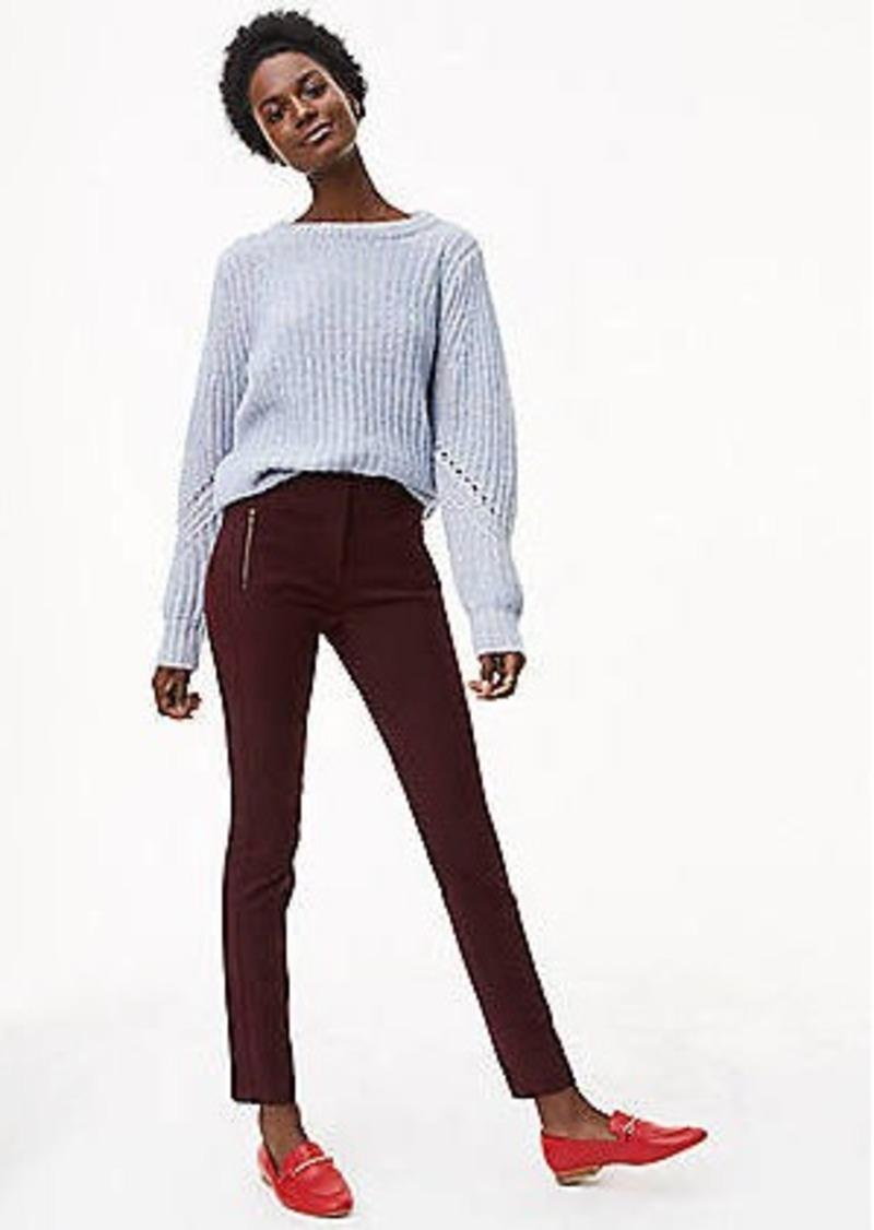 ca04a098a21 LOFT Petite Skinny Zip Pocket Bi-Stretch Pants in Marisa Fit