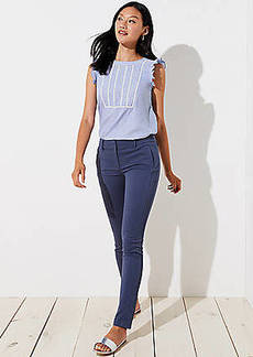 LOFT Petite Skinny Zip Pocket Sateen Pants