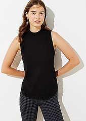 LOFT Petite Sleeveless Mock Neck Sweater
