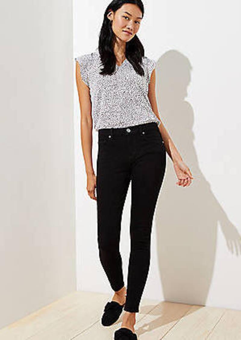 LOFT Petite Slim Pocket Skinny Jeans in Black