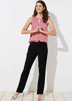 LOFT Petite Slim Tie Waist Pants