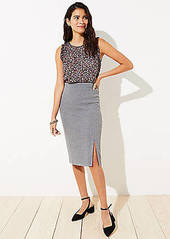 LOFT Petite Slit Pull On Pencil Skirt