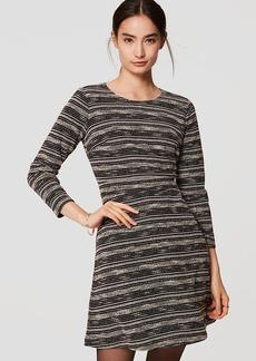 Petite Spacedye Stripe Flare Dress