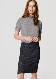 Petite Speckled Knit Pull On Pencil Skirt