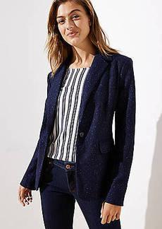 LOFT Petite Speckled Modern Knit Blazer