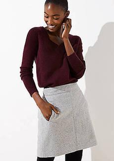 LOFT Petite Speckled Pocket Shift Skirt