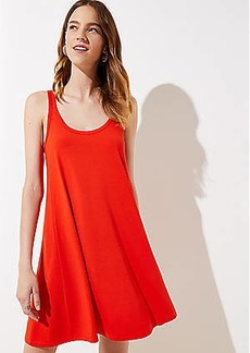 LOFT Petite Split Strap Sleeveless Swing Dress