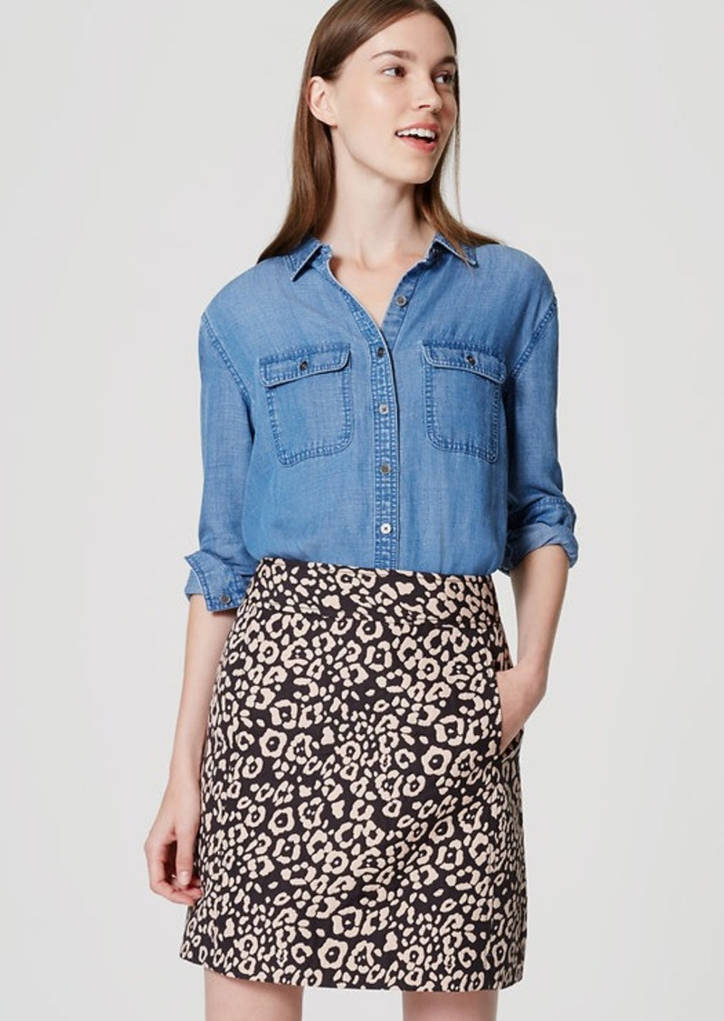 LOFT Petite Spotted Shift Skirt