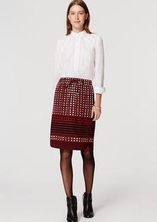 Petite Square Stripe Pull On Skirt