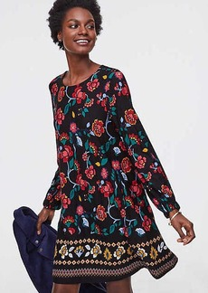 LOFT Petite Stained Glass Floral Swing Dress
