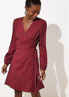 LOFT Petite Star Wrap Dress