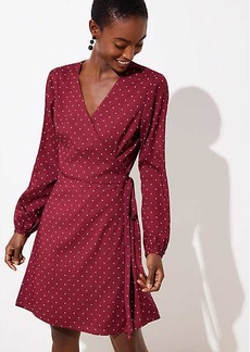 LOFT Petite Star Wrap Dress