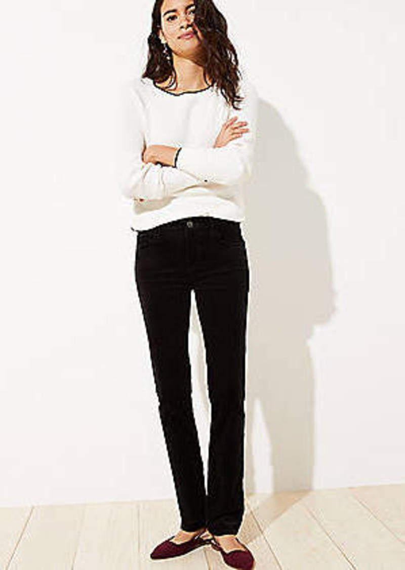LOFT Petite Straight Leg Corduroy Pants
