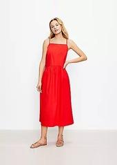 LOFT Petite Strappy Halter Midi Dress