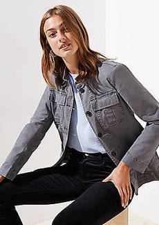 LOFT Petite Stretch Cotton Utility Jacket