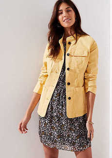 LOFT Petite Stretch Cotton Utility Jacket