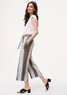 LOFT Petite Stripe Belted Culottes