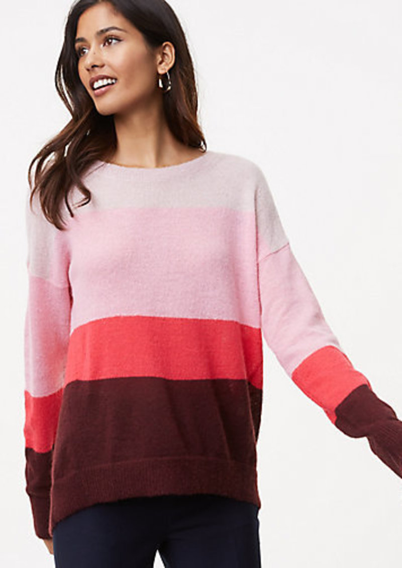 1f618defe45a LOFT Petite Striped Boyfriend Sweater
