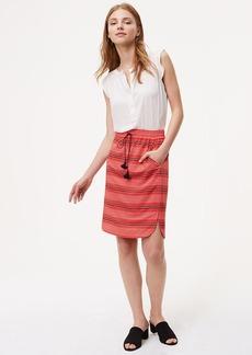 Petite Striped Drawstring Skirt
