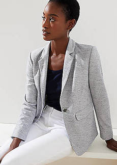 LOFT Petite Striped  Knit Modern Blazer