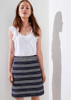 LOFT Petite Striped Sailor Pocket Shift Skirt