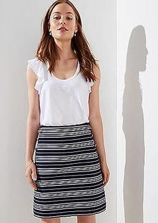 LOFT Petite Striped Sailor Pocket Shift Skirt