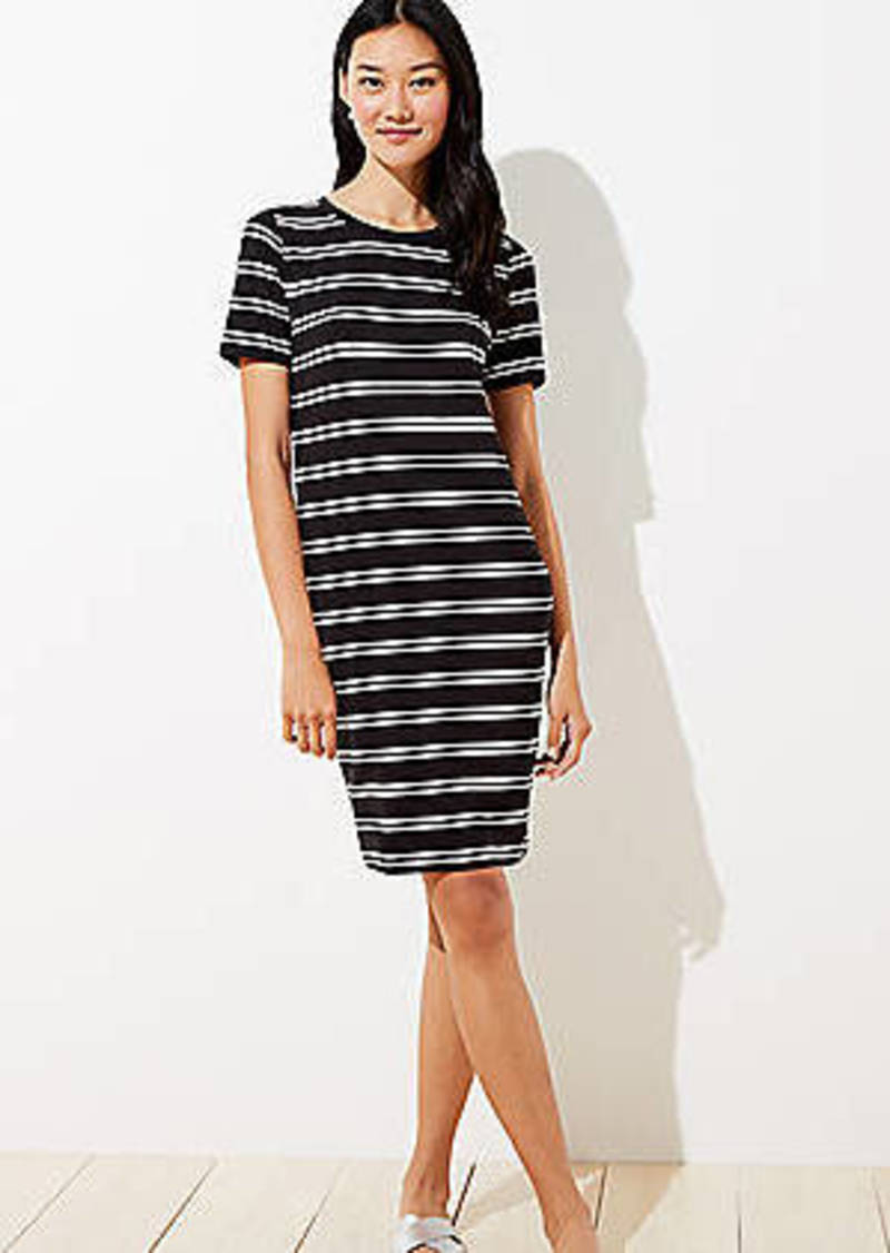 LOFT Petite Striped Tee Dress
