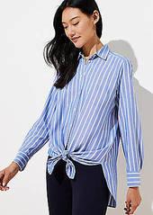 LOFT Petite Striped Tunic Shirt
