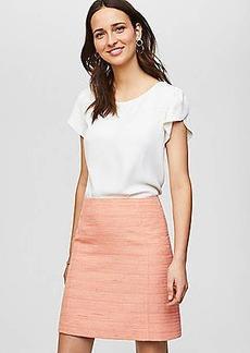 LOFT Petite Striped Tweed Skirt