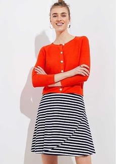 LOFT Petite Striped Wrap Pull On Skirt