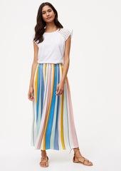 LOFT Petite Sundeck Pleated Maxi Skirt
